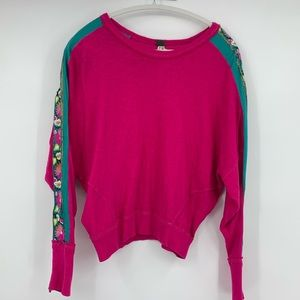 Free People we the free sweat shirt embroidered